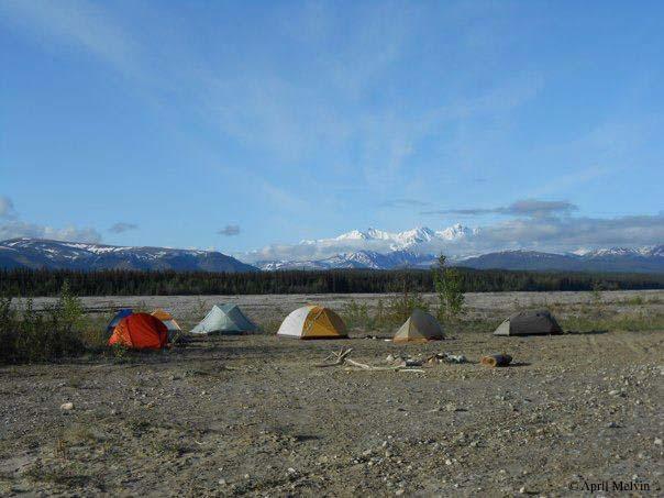 Tents at the Delta Campsite in Alaska