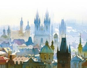 Watercolor of Prague