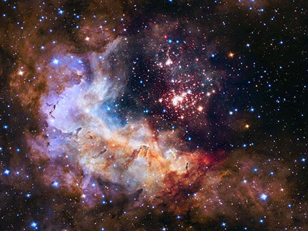 NASA Space Telescope image of a cluster of starts