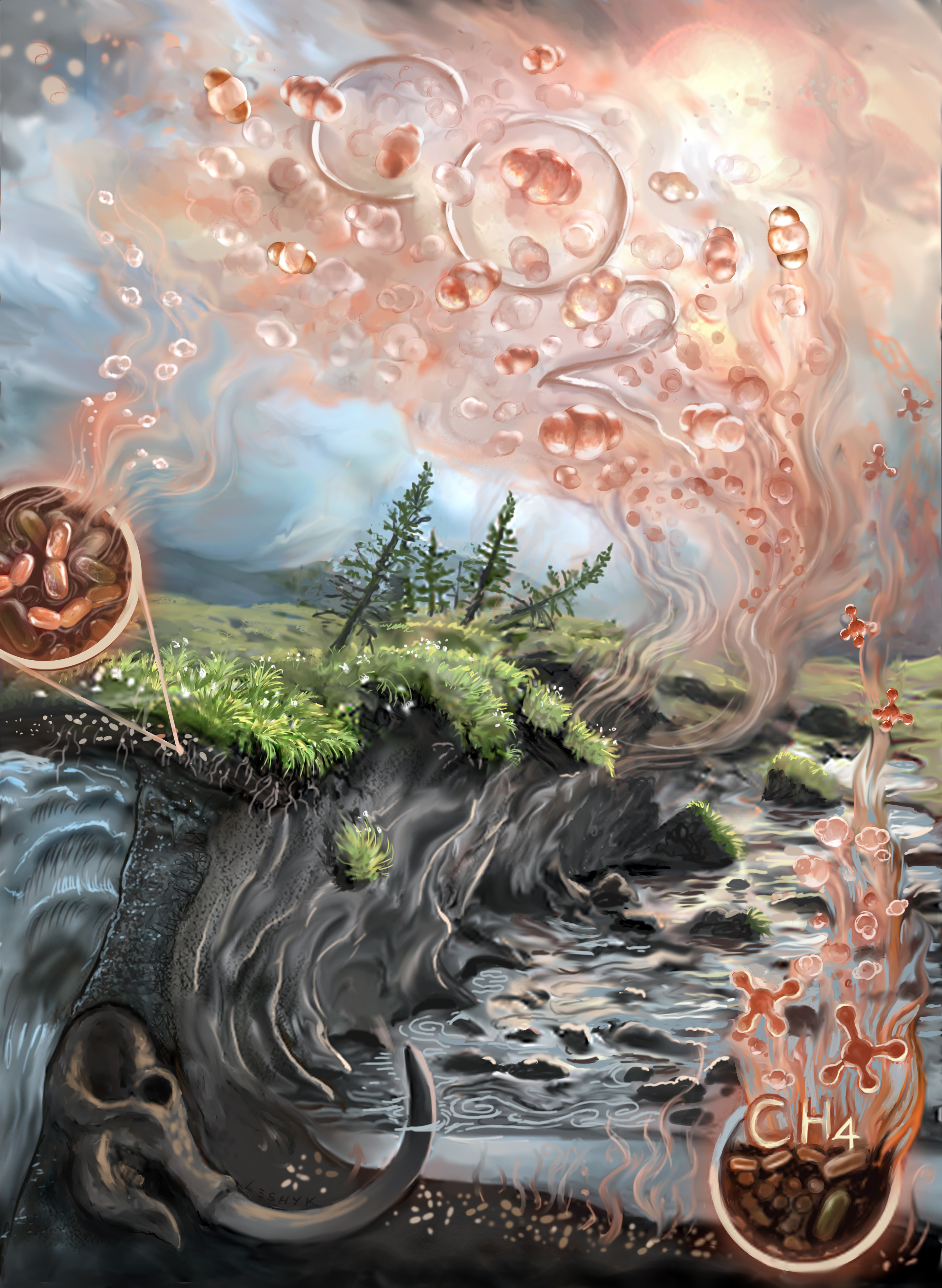 leshyk illustration thawing permafrost