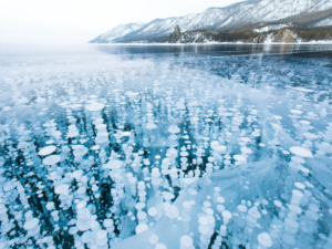 Methane bubbles by Meghan Taylor